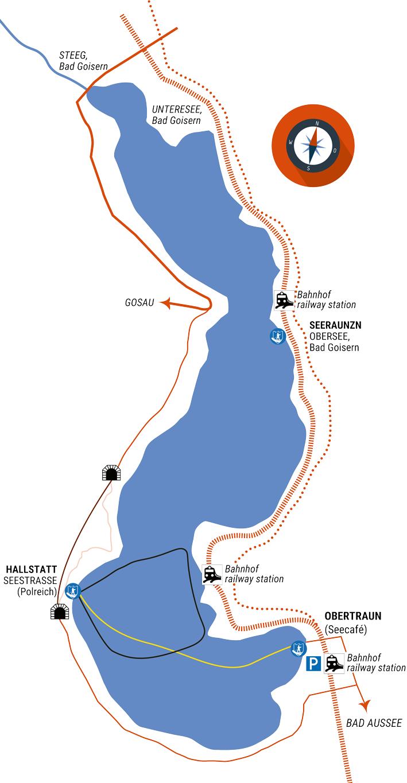 NAVIA Routen-Karte